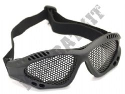 Airsoft goggles metal mesh safety glasses eye protection Black tactical no fog